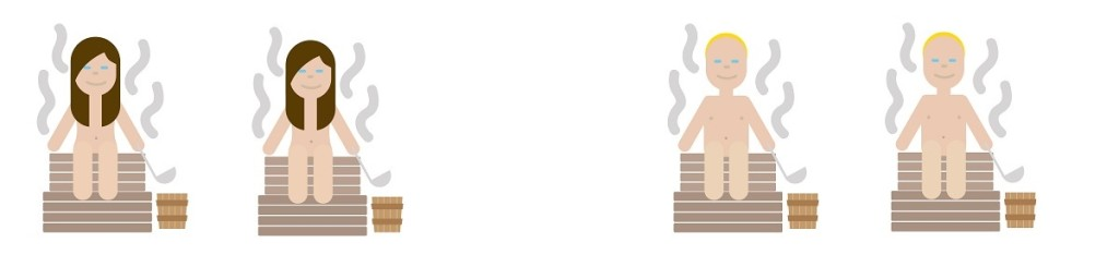 Sauna emojis